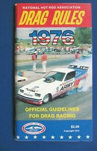 1976 NHRA DRAG RULES Official Guidelines for Drag Racing Booklet, Excellent Cond