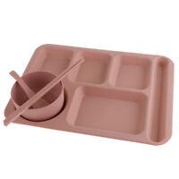 stapelbar Serviertablett Speiseplatte Teller fürTerrasse, Pool,Picknick Rosa