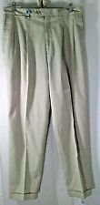 Callaway Golf Men's Beige Pro Spin Cotton Blend Pleated/Cuffed Pants 36 x 33