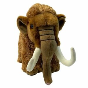 """Woolly Mammoth toy 9""""/22cm stuffed animal by Living Nature NEW"""