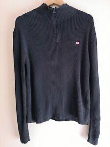Ralph Lauren Polo Jeans Black 1/4 Zip Jumper - Women's Medium