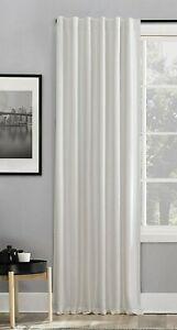 "Sun Zero 84"" Evelina Back Tab Blackout Window Curtain Panel - Pearl White"