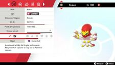 Pokemon KRAKOS Shiny 6IV + masterball - Battle Ready - Epée/Bouclier