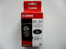 CARTUCCIA CANON BC-20 ORIGINALE BC-20 BLACK BJC-2000 BJC-4000 BJC-5500 PROMO !!