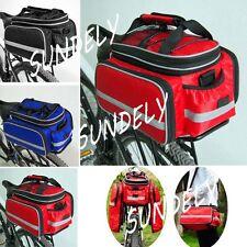 Fast Ship Bicycle Rear Rack Bag Pack Pannier Bag Storage Bike Cycle Waterproof