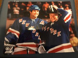 Eric Lindros Signed 8x10 photo NY Rangers Mark Messier AUTO