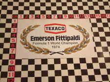 Emmerson Fittipaldi F1 World Champion Sticker 1974