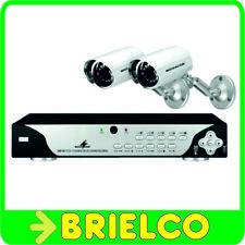 CAMARAS DE VIGILANCIA 2 UNID. 12 LEDS IR DISCO GRABADOR 250GB PROFESIONAL BD7108