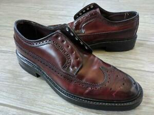 nos BOSTONIAN wingtips SHELL CORDOVAN dress shoes 8.5 D/B horween
