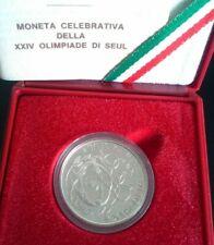 Italia Repubblica 1988 500 Lire Argento Olimpiadi SEUL PROOF Confezione Zecca