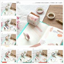 5pcs Masking Tape Scrapbook Adhesive Sticker Washi Tape DIY Craft Office Supply