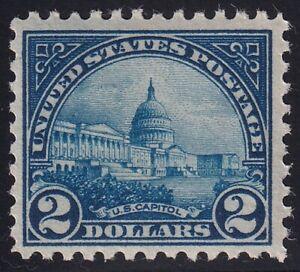 US STAMP #572 – 1923 $2 Capitol, deep blue  MNH/OG  $120