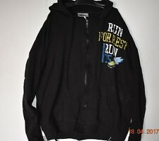 Bubba Gump Shrimp Co Brand Full Zip Up Hoodie Sweatshirt Black Women Size XL