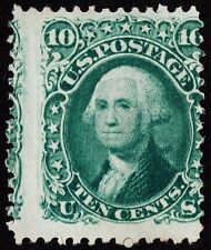 "US Sc# 89 *UNUSED* { ""E GRILL 10c WASHINGTON } BEAUTY ""SCARCE 1867 CV$ 2,100.00"
