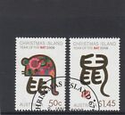 CHRISTMAS ISLAND 2008 Year of the RAT design set of 2 VFU,CTO...CI Cancelation