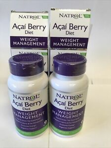 Pack Of 2 Acai Berry Diet, Weight Management, 60 Veggie Capsules See Description