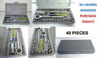 "PREMIUM 40 PIECES  1/4"" & 3/8"" Drive Socket Set Tool Kit TORX RATCHET DRIVER"