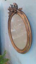 Cadre ovale en bois doré fin XIX ème style Louis XVI!