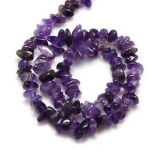 1filo di perline chips in ametista  naturale 45cm 4-12mm colore viola