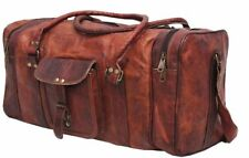 "Bag Leather Duffle Travel Men Luggage Gym Vintage Genuine Weekend Overnight New"""