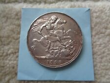 1897 Great Britain Crown large Silver coin Queen Victoria Better condition