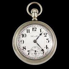 Grade 940 Railroad Pocket Watch Nice 1914 Hamilton 18s 21 Jewel