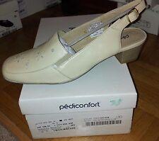 NEUVE Paire de sandales de confort tout cuir PEDICONFORT - beige Pointure 38