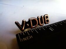 V-DUB VW Volkswagen Pin Emblem Glove Box Dash Fender Trunk German Car Club Badge