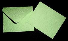 HANDMADE EMBOSSED  PASTEL GREEN MINI  ENVELOPES - Pack of 10  - 100mm x 80mm -