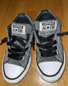 Converse All Star  Kids Shoes Size 11 Black/White Fabric