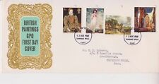 GB QEII 1968 FDC FIRST DAY COVER BRITISH PAINTINGS KENT PMK