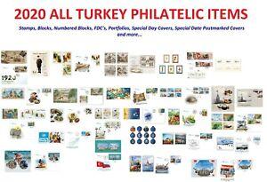 2020 All Turkey Philatelic Items