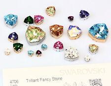 Genuine SWAROVSKI 4706 Trilliant Fancy Crystals with Sew On Metal Settings