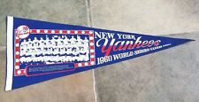 NEW YORK YANKEES PENNANT - WORLD SERIES - 1960 - TEAM PICTURE - UNUSUAL ORIGINAL