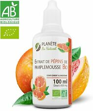 Extrait Pepins Pamplemousse Bio 800mg bioflavonoides 100ml Antixoxydant Ecocert