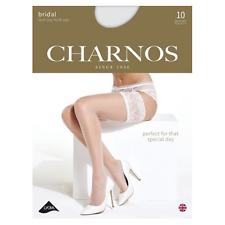 New - Charnos Bridal Lace Top Hold Ups* 10 Denier * Run resistant  * Shadow toe