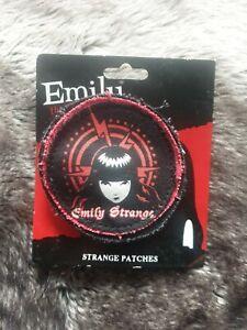 RARE Emily The Strange cloth kilt pin patch badge goth emo vintage retro