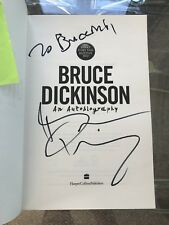 Iron Maiden - Bruce Dickinson Signed What Does This Button Do? UK FIRST EDITION