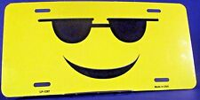 Sunglasses cool happy smiley license plate New aluminum auto tag USA  LP-1297