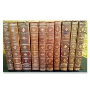 Fine Editions Press - Lot of 10 Leather Bound Classic Books with Gilded Pages