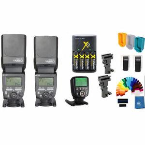 Yongnuo YN660 2PC Wireless Flash Speedlite Pro Kit YN560-TX II Trigger For Canon