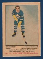 GUS MUSTSON ROOKIE RC 51-52 PARKHURST 1951-52 NO 73 GOOD+ 23441
