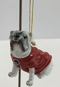 University Of Georgia Bulldogs Christmas Mascot Ornament Memory Company