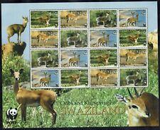 SWAZILAND 2001 WWF BUCK SHEETLET MNH **