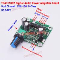 DC12V-24V TPA3110 2X15W Digital Stereo Audio Power Amplifier Board DIY Bluetooth