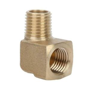 "1/4"" NPT Male-Female Elbow Pipe Fitting Brass 90° Water Connector Adapters Kit"