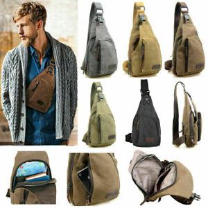 Herren Männer Brusttasche Crossbody Sling Bag Schultertasche Vintage Tasche Bag