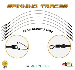 30cm Spinning Wire Traces 12 Inch --- Pike Rig --- Lure Fishing