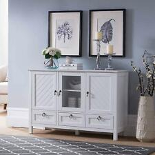 Kings Brand Furniture – Sideboard Buffet Console Table Storage Cabinets, White