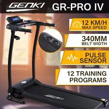 Genki Treadmill Folding Fitness Exercise Machine Gym Equipment w/340mm Belt